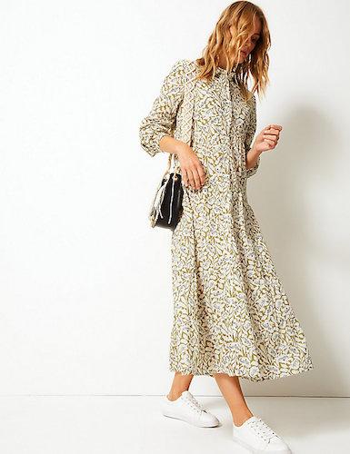 Marks & Spencer Tiered Shirt Maxi Dress, $97.00