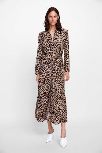 ZARA Long Leopard Print Dress, $99.00
