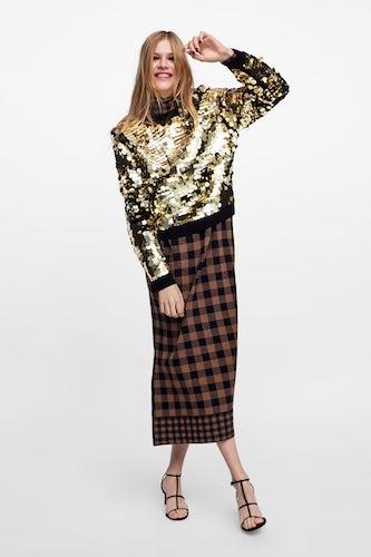 ZARA Sequinned Sweater, $139.00