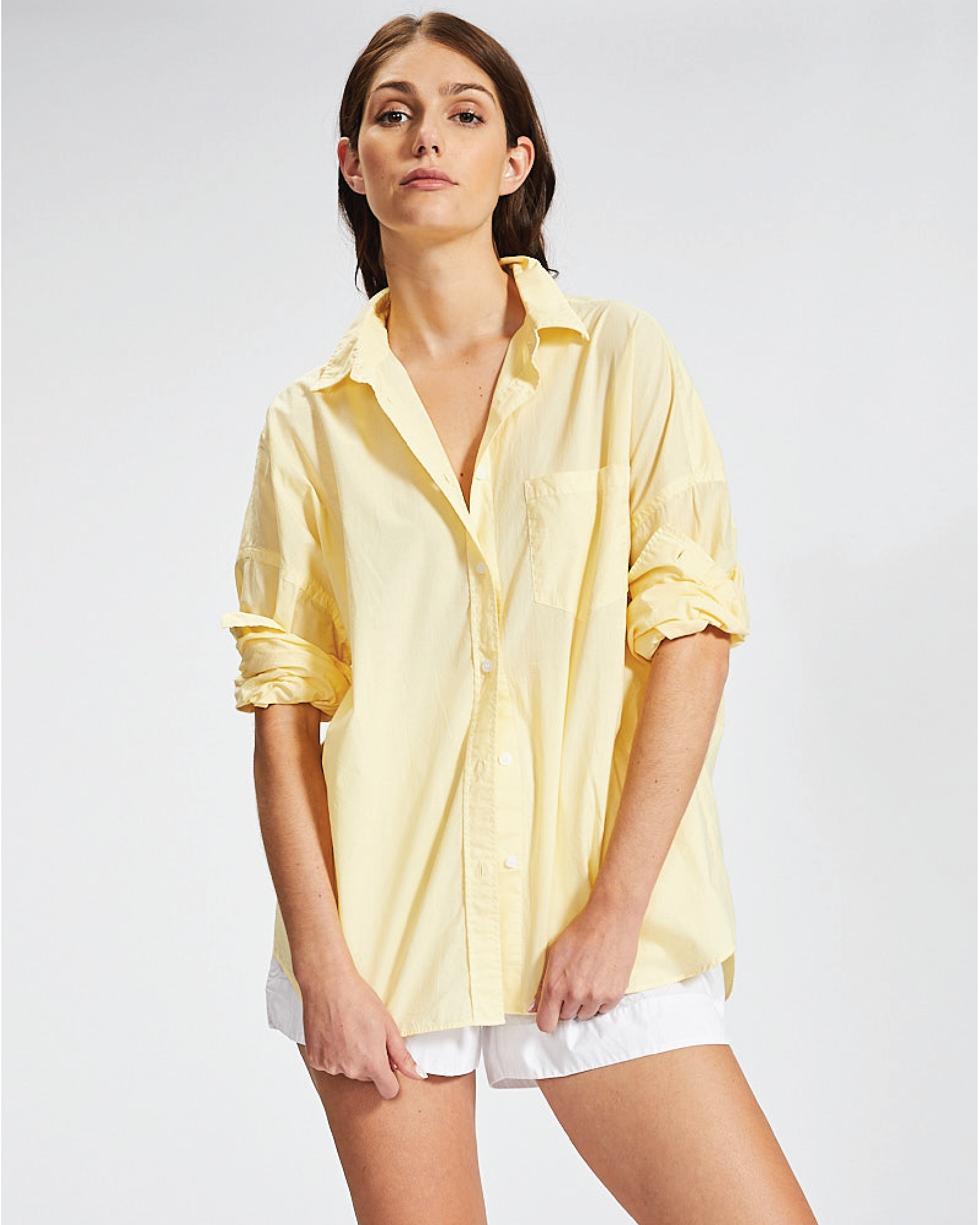 LMND, The Chiara Shirt - Limoncello, $115