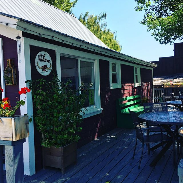 Beautiful day for bubbly on the deck at Corks! . . . #wine #bubbly #kittcoadventure