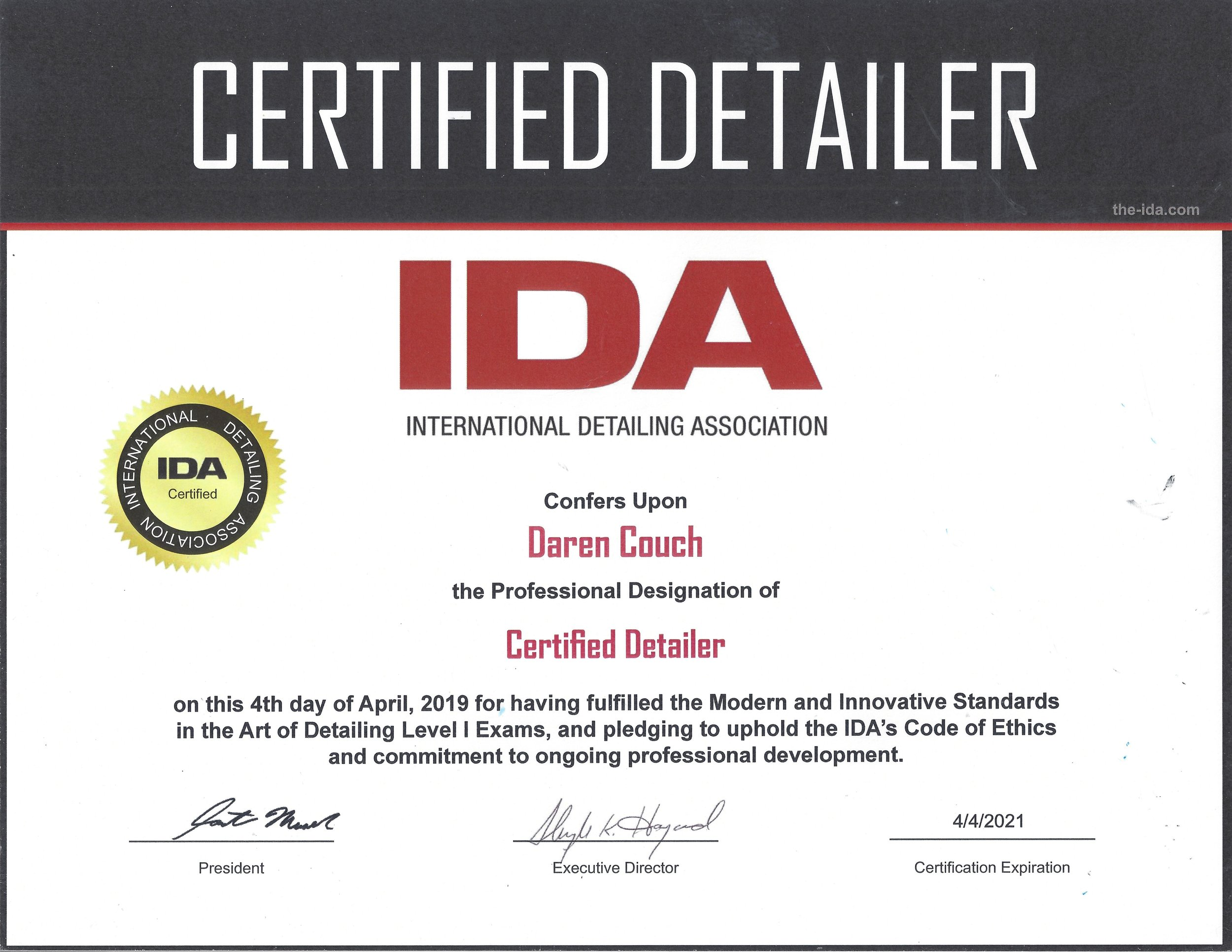 IDA CD Cert.jpg
