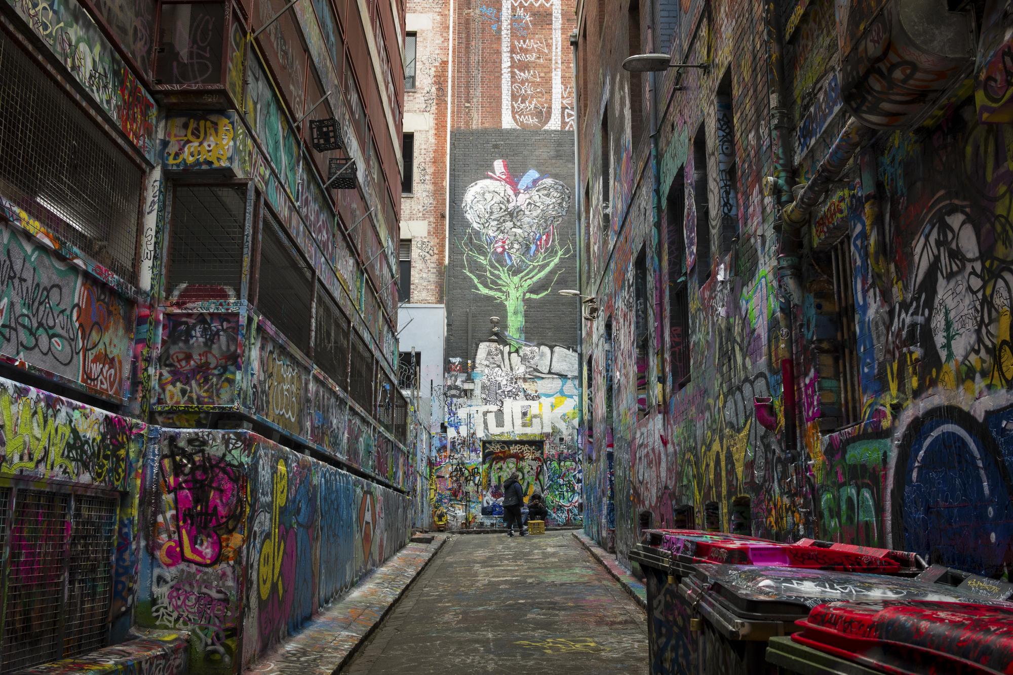 Graffiti at Rutledge Lane. Melbourne, Australia 2018 .   ©  Danny Imson. Leica CL, Leica Summicron-TL 23mm F/2 ASPH