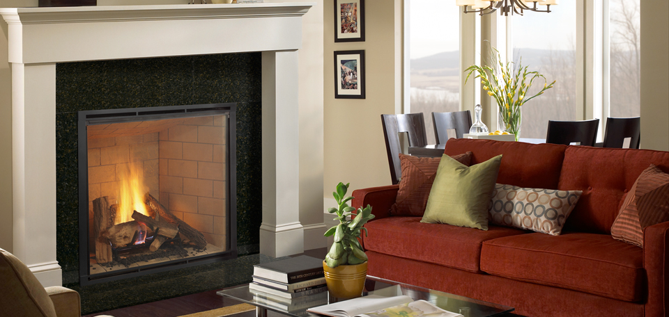 Heatilator Heirloom Series gas fireplace, available at Ferguson's Fireplace & Stove Center in Traverse City, Michigan.