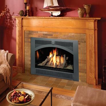 Lopi 864 High Output gas fireplace.