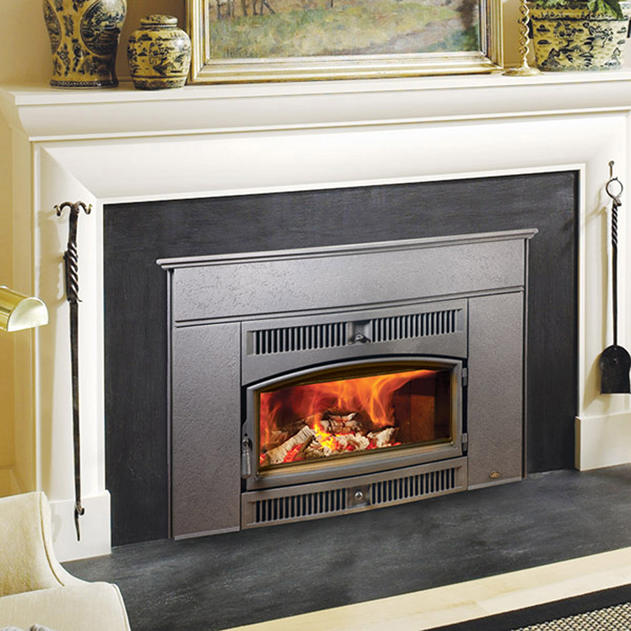 The Lopi Cape Cod Wood Insert wood insert is available at Ferguson's Fireplace & Stove Center.