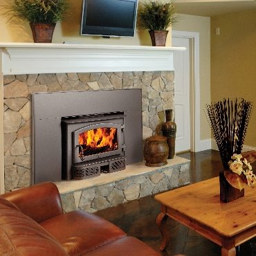 The Lopi Republic 1250 wood insert is available at Ferguson's Fireplace & Stove Center.