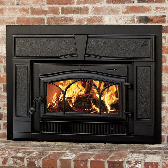 The Jotul C 350 Winterport wood insert is available at Ferguson's Fireplace & Stove Center.