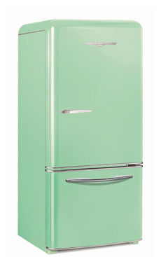 Model 1950 18.5 Cu. Ft. Bottom Freezer Shown in Mint Green