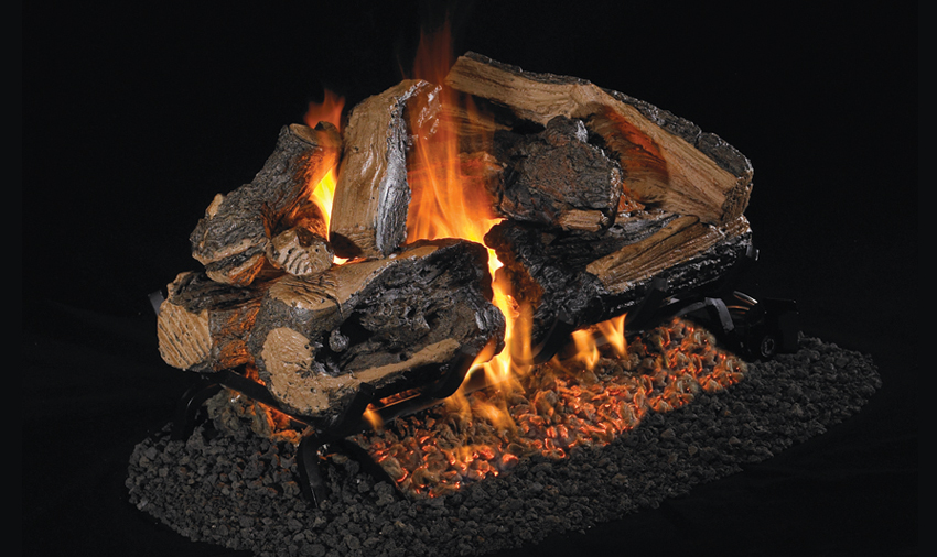 Charred Rugged Split Oak See-thru - PRODUCT SIZES: 18