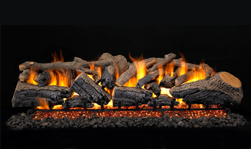 "Charred Majestic Oak Large Set - PRODUCT SIZES: 60"" & 72"