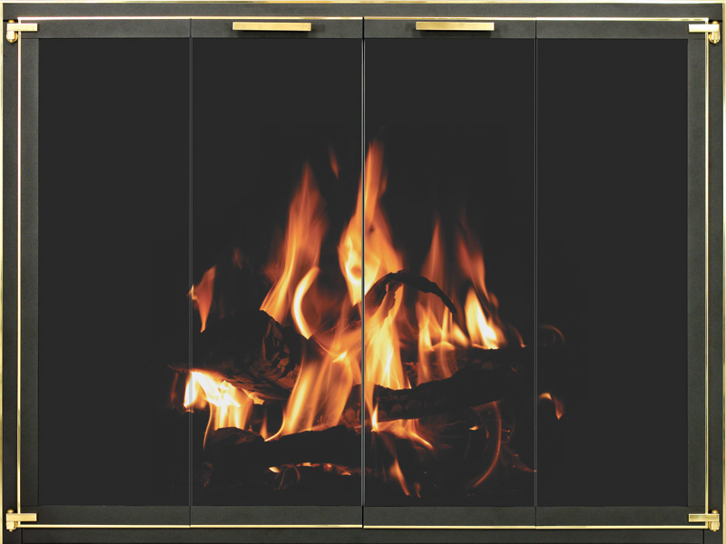 Stoll Industries | Original - One of the most accommodating fireplace doors.DESIGN: CLASSICFRAME SIZE: 14GA or 10GAOPTIONS: Allows for Maximum overlap and Custom Sizing
