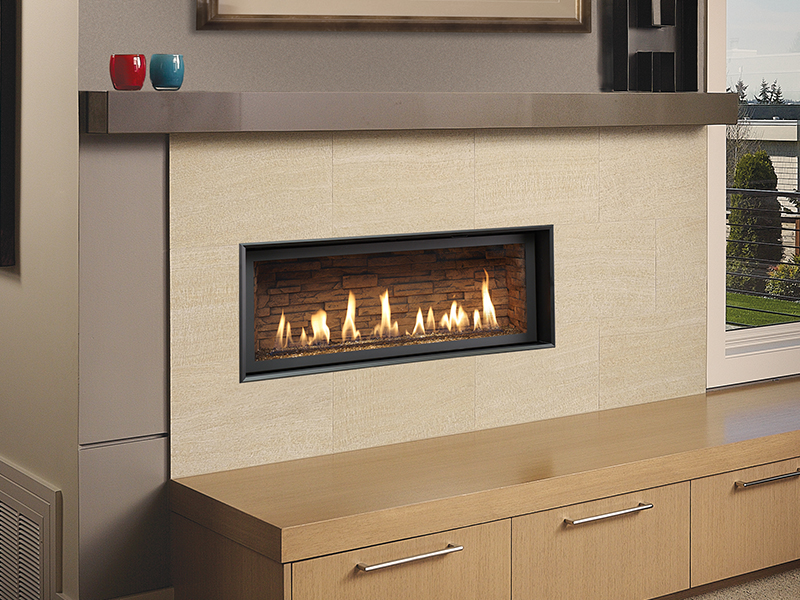 Fireplace Xtrordinair's High Output gas fireplace, available at Ferguson's Fireplace & Stove Center in Traverse City, Michigan.