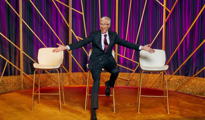 Blind Date  (Series 1&2)   Channel 5 / So Television, Stellify, Olga TV   Blind Date, the nation's favourite match-making show, is back for a brand new series. Hosted by Paul O'Grady, the show has been updated for the 21st century, as a new generation of love-seeking characters compete against each other to hook up with their potential love match, hiding behind the legendary sliding panel.
