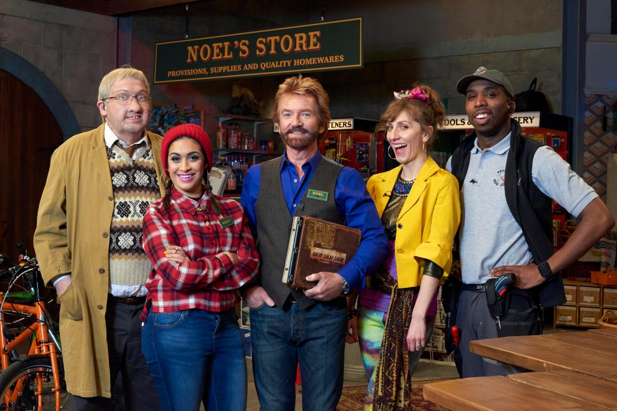 Cheap, Cheap, Cheap    Channel Four / Hat Trick Productions   Noel Edmonds opens Noel's Store in a 30 part series where contestants try to win £25,000 while manager Barry and his staff ensure there's never a dull moment. Pairs of contestants are invited up to win an increasing amount of money by correctly picking the cheapest of three similar items, taken from the shop's stock.