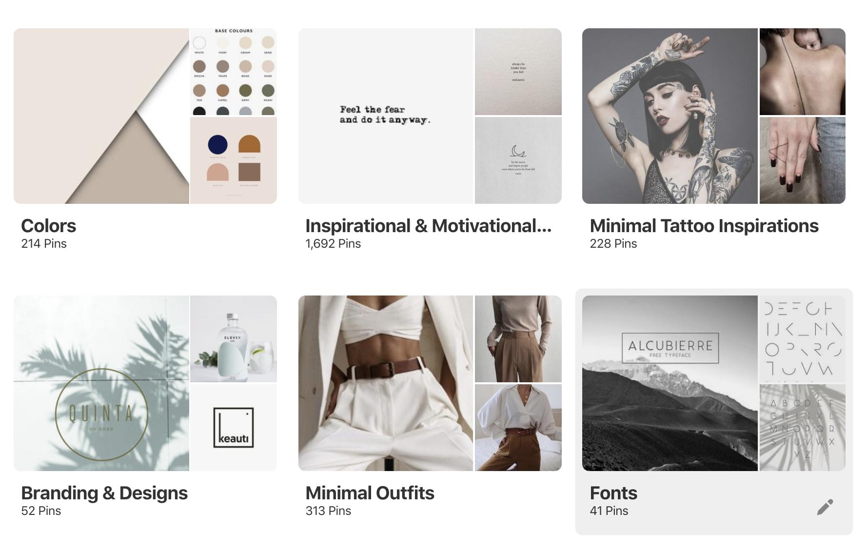 Pinterest Boards Paula Hail Studio Screenshot