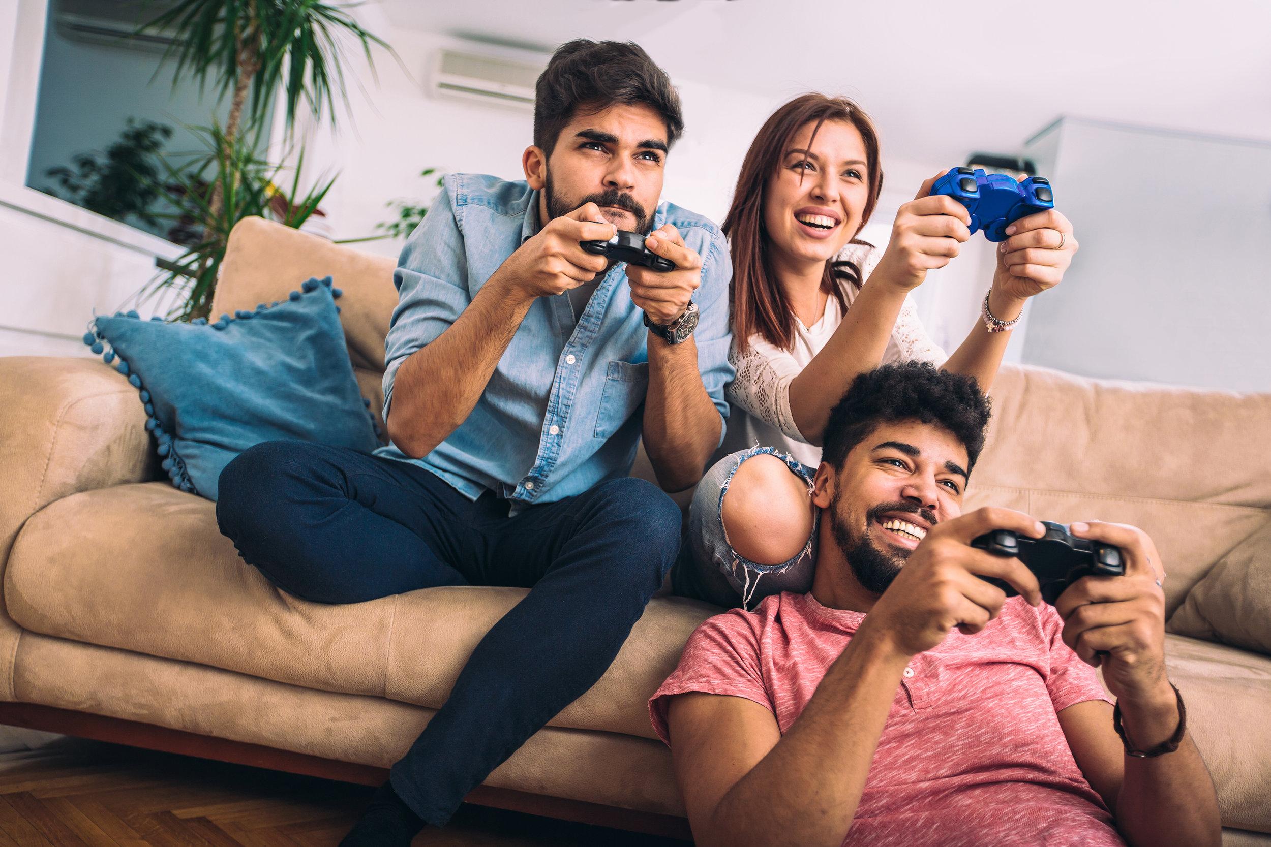 FriendsPlayingGames