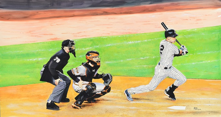 Derek Jeter: Last Hit At Yankee Stadium