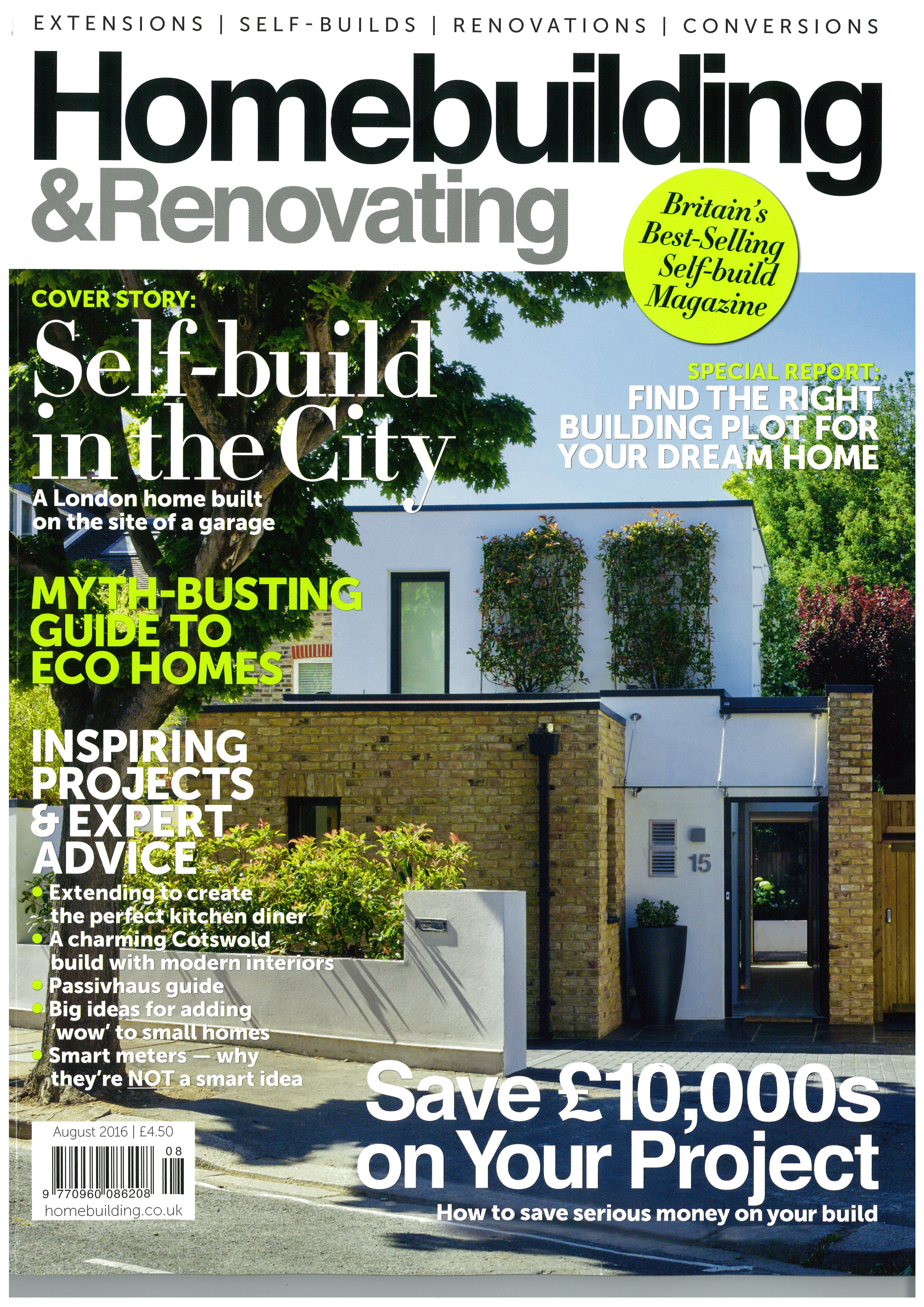 Homebuilding and Renovating Magazine, 2016