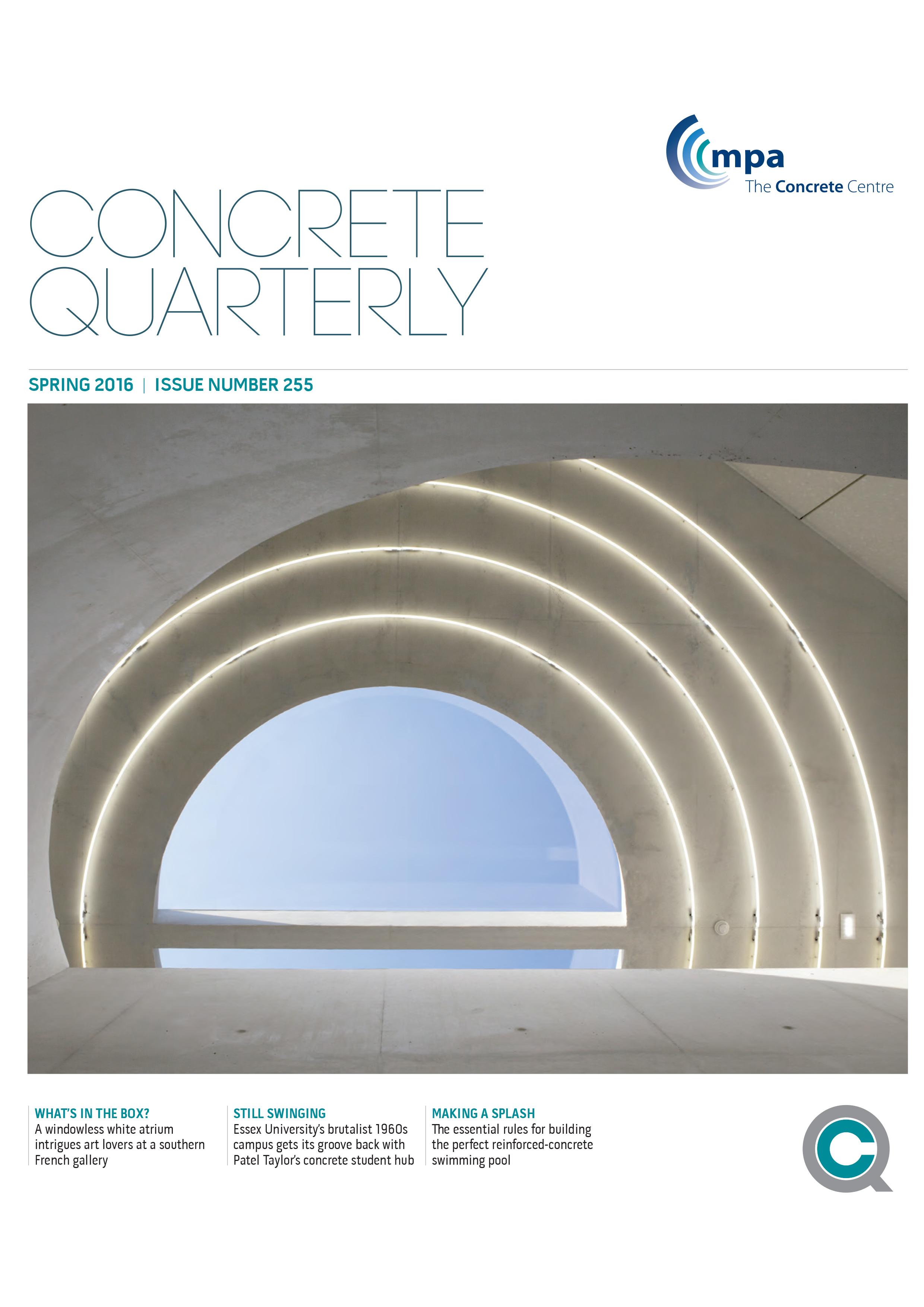 Concrete Quarterly, 2016