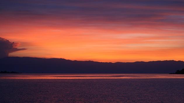 Lake Shore Lodge Tz - Lake Tanganyika - Activities - Sunset Cruise - Watercolour sunset.jpg