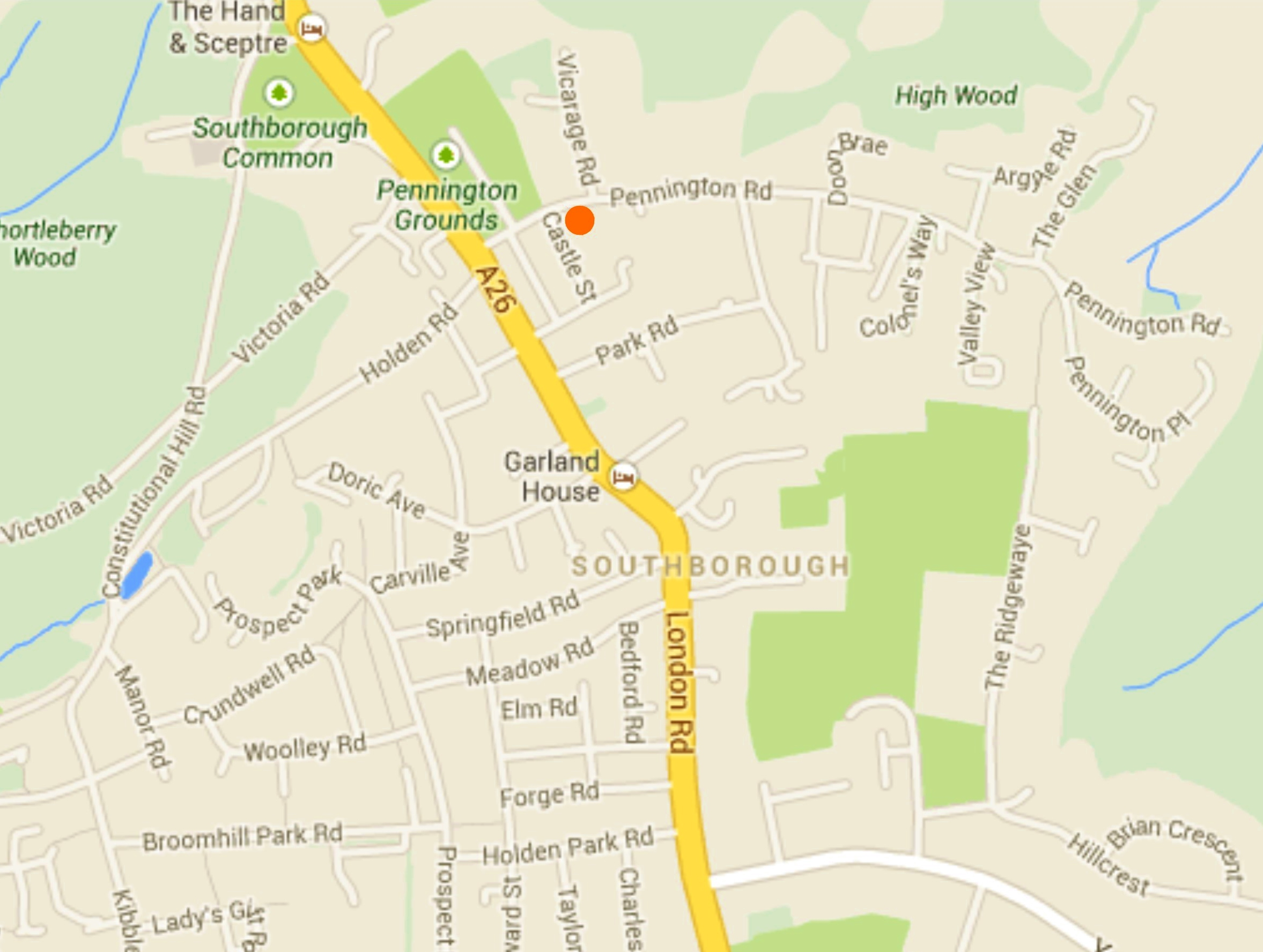 Ralph USherwood's house - Location from Google Maps