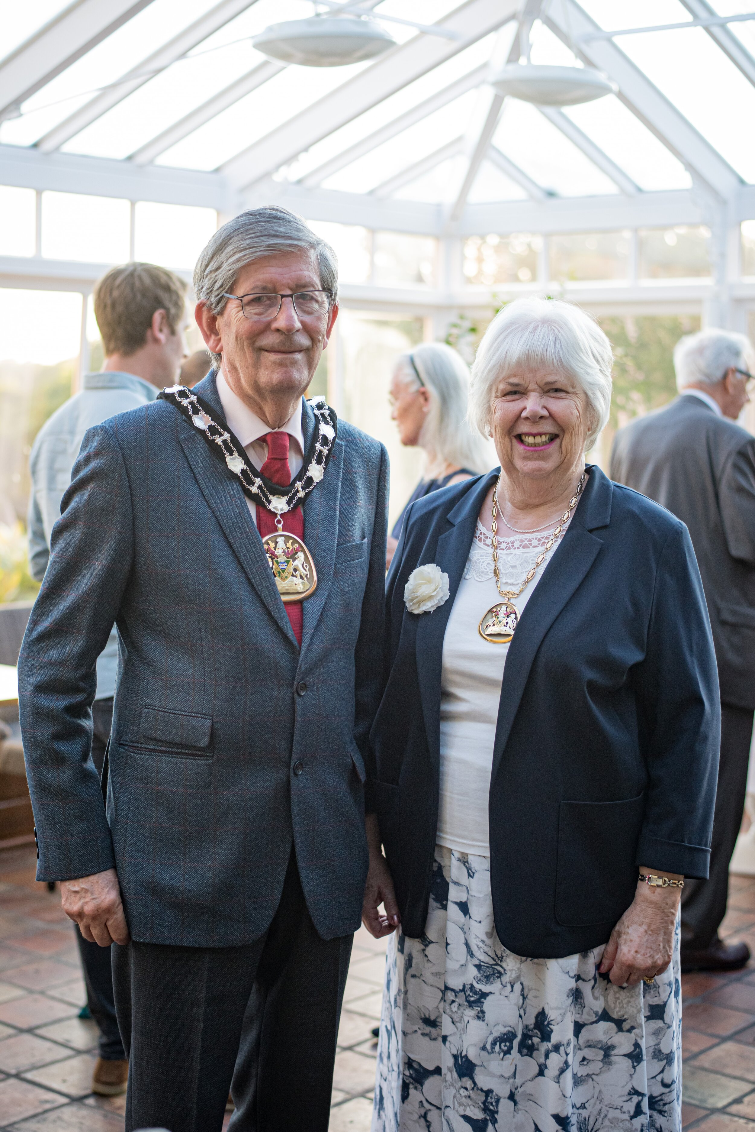 Mayor and Mayoress of Tunbridge Wells, Cllr James Scholes and his wife, Jane Scholes. Photo credit: Craig Matthews