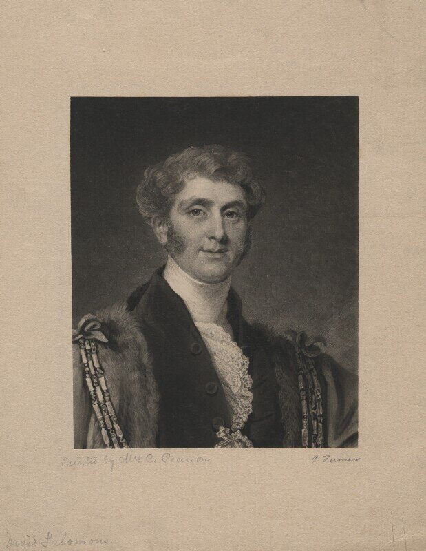 Sir David Salomons, 1st Baronet. image from the National Portrait Gallery.
