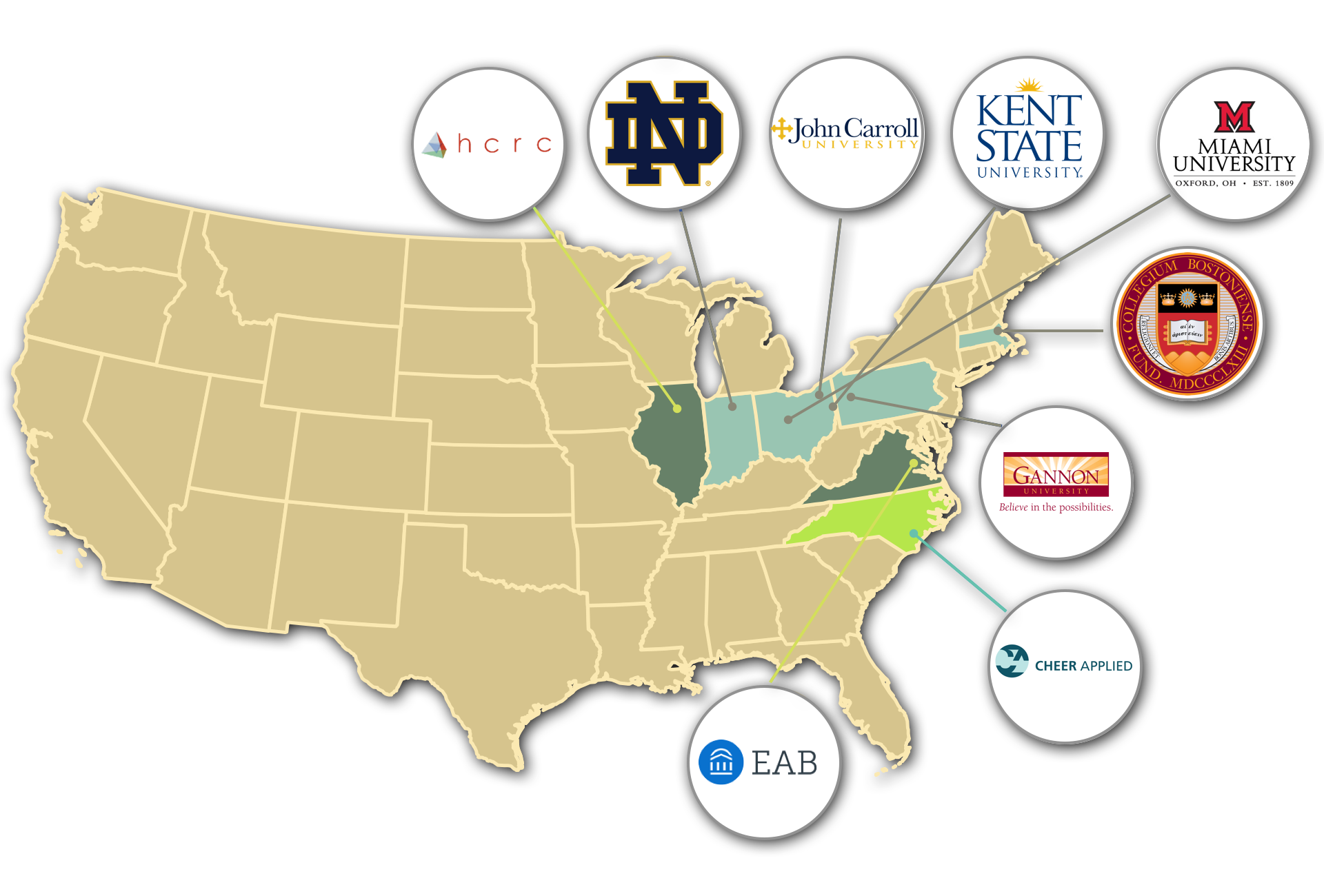 more about our work - GlyphEd™ was created as a joint partnership with the University of Notre Dame. Since then it has expanded to tackle Enrollment Management, Retention, Career Services, and curriculum use cases. GlyphEd™ is credited with helping students understand data up to twice as fast, and increasing a schools retention rate by 5 points saving them $2 million dollars.GO TO THE GLYPHED WEBSITE