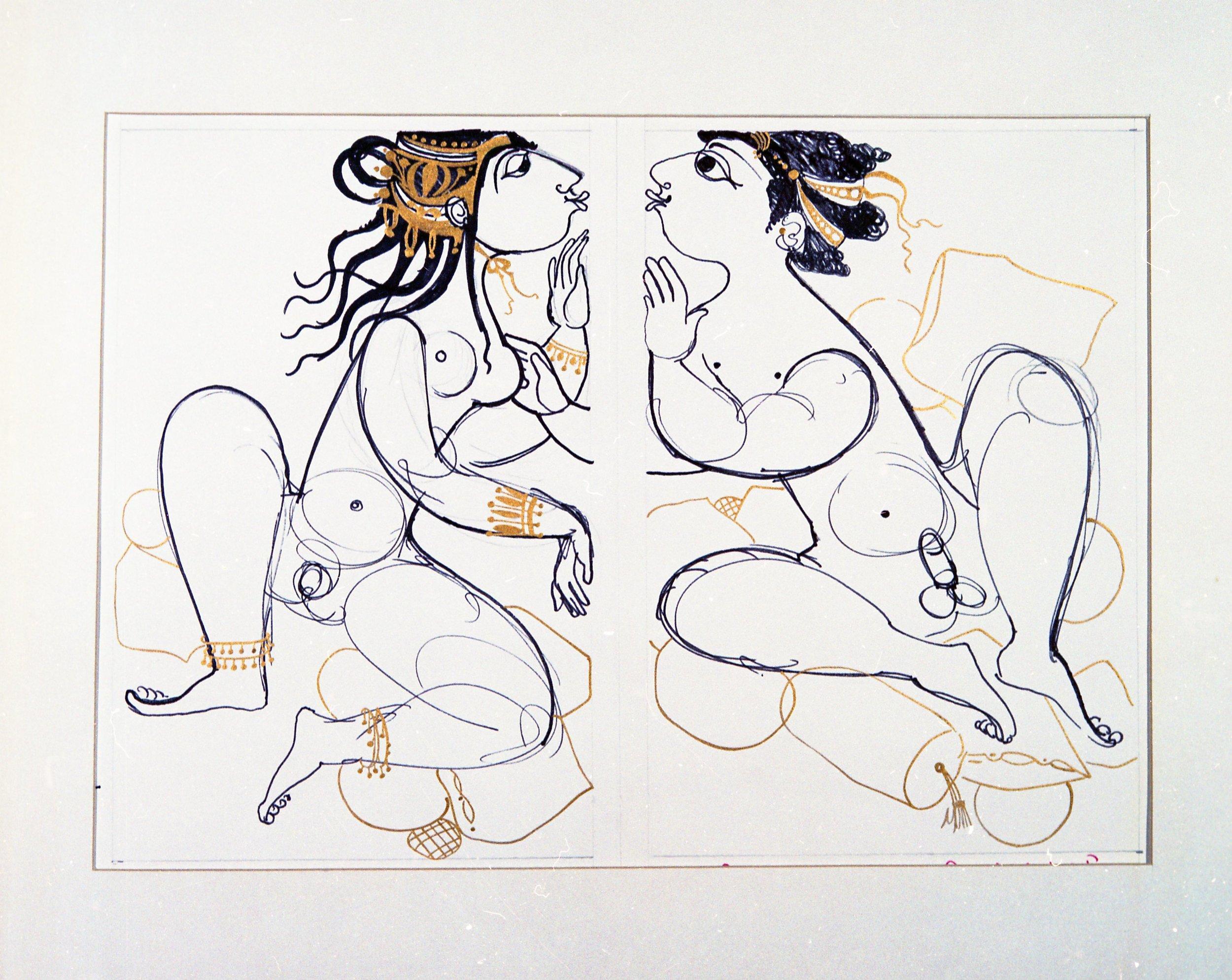 Problemfri erotik i Wiinblads illustrationer til 1001 nat fra 1960'erne.
