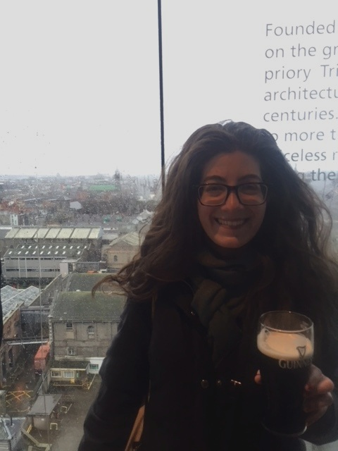Having a pint of Guinness at the Guinness Brewery in Dublin, Ireland in February 2017.