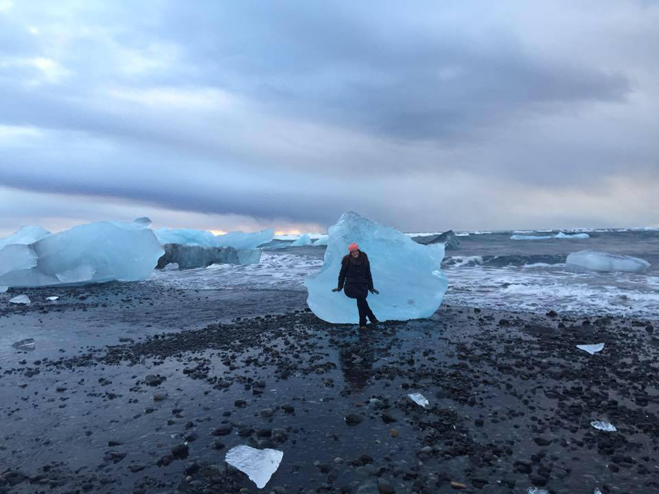Relaxing at my happy place, Jökulsárlón. Iceland was only the beginning of the adventure.