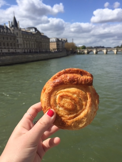 I recommend gifts/food that come in sealed packages. While delightful, a pastry from an open bag from Paris probably wouldn't do.