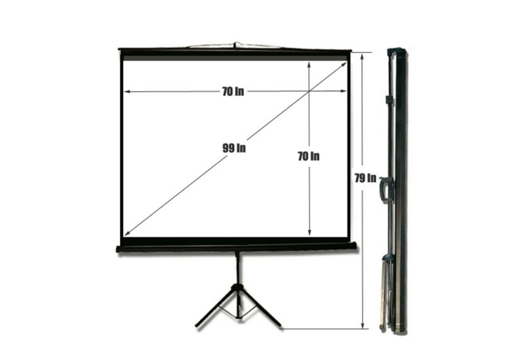 70″ x 70″ Tripod Projection Screen