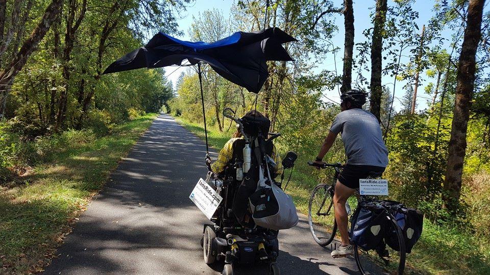 Umbrella, or hang glider?