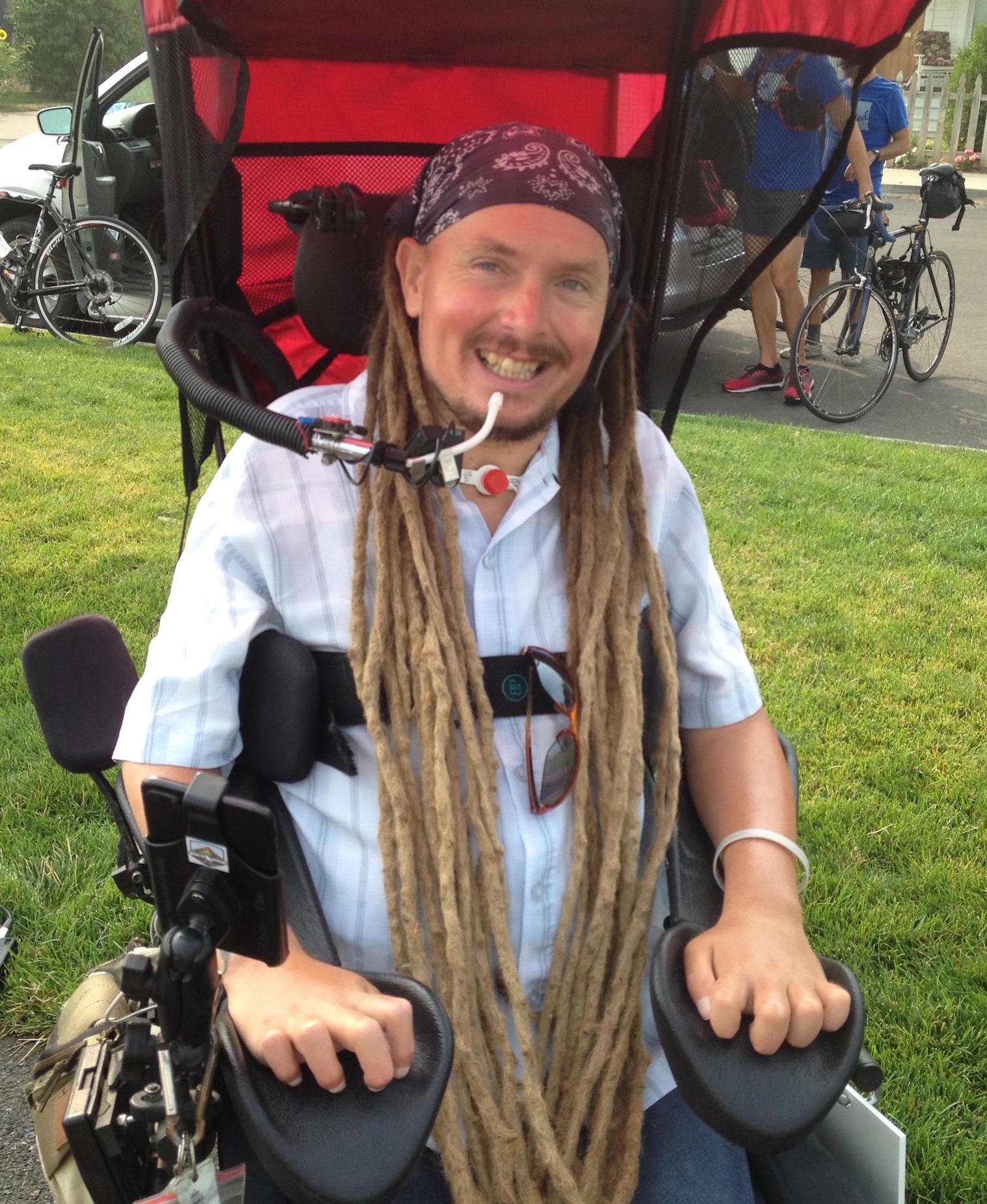 Wheelchair Rider Embarks on Cross-State Trip - A Port Angeles, Washington man who is advocating for more and safer open-road options for disabled travelers has begun a cross-state journey.Ian Mackay began his trip in his motorized wheelchair in Coeur d'Alene, Idaho on Sunday. He traveled the Centennial Trail to Spokane and then left for Davenport this morning [Monday].