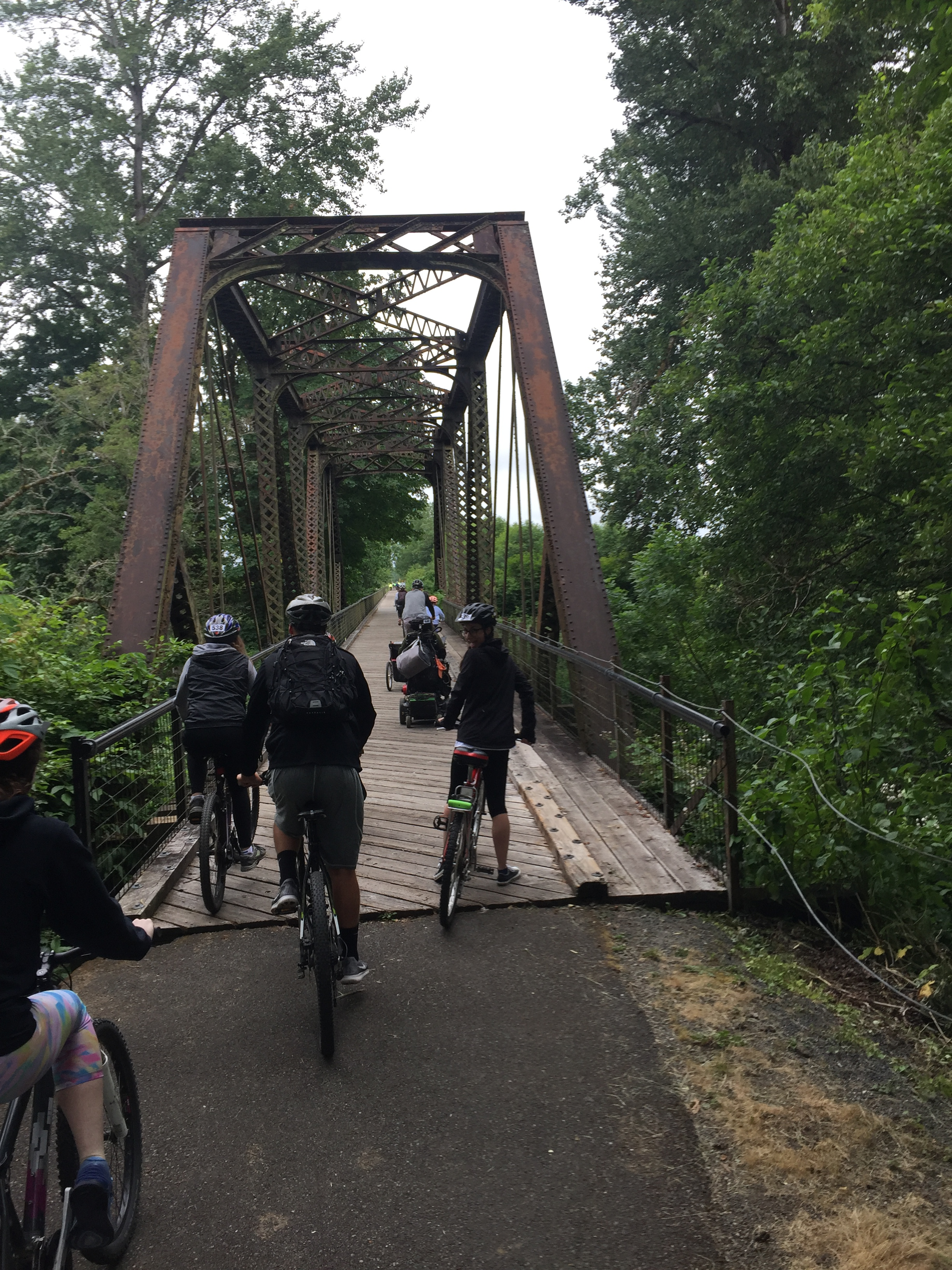 Bridges, transitions, and plenty of riders