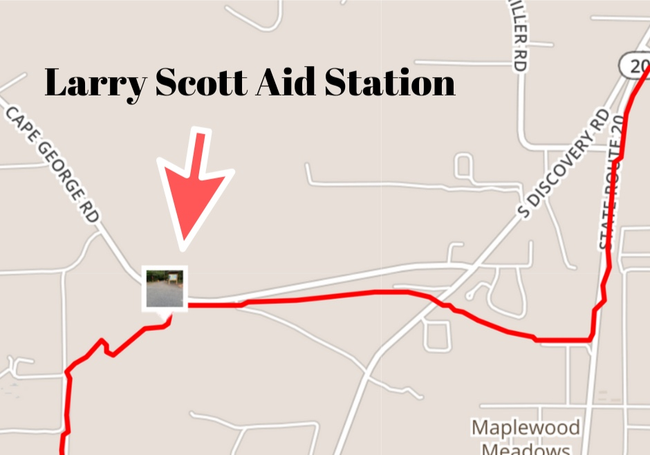 Aid station approximately 4 miles from Milo-Curry trailhead.