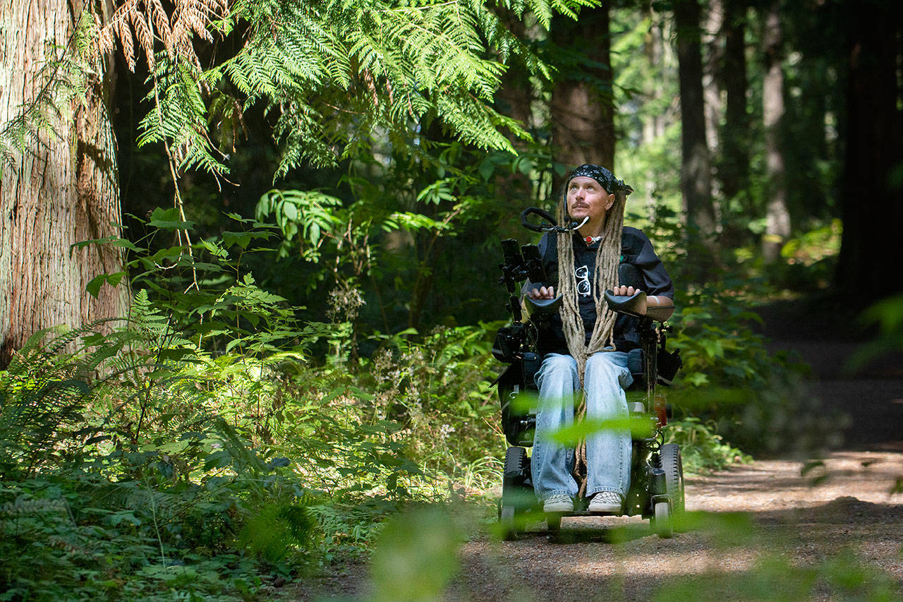 Quadriplegic on the trail: Internationally-known Agnew man organizes group ride - PORT ANGELES — An Agnew man whose mission is to promote accessibility and encourage people to get outside is hosting a three-day group ride traveling the length of the Olympic Discovery Trail later this month.