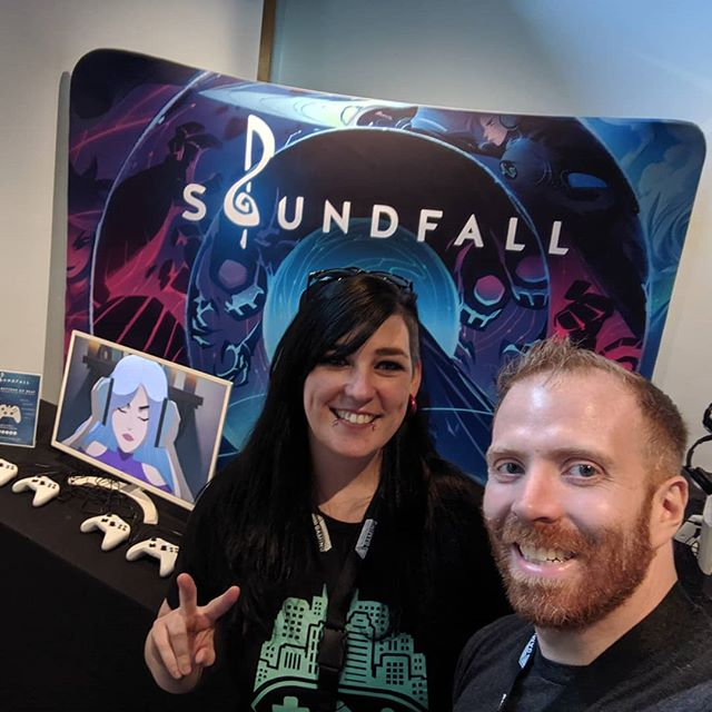 Hanging out today with Raleigh devs at the first ever #oakcityindie ! If you're in the area, stop by to play Soundfall and lots of other awesome locally made indie games!  #indiegames #indiedev