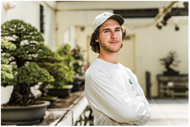 Andy Bello, the National Bonsai & Penjing Museum's 2019 First Curator's Apprentice. (Stephen Voss)