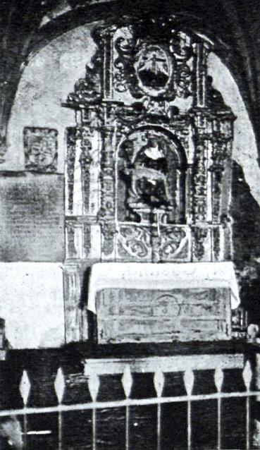 Fotografía antigua del retablo no conservado