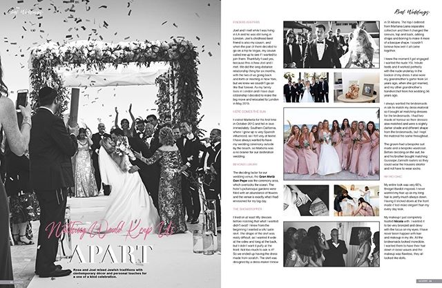 The best thing to hold onto in life is each other. 💞 Rose and Joel, life has even more wonderful things in store than the happiness you shared on your wedding day. May every day be beautiful and happy for you as a couple!! 💑  Would you like your wedding featured in Confeti Magazine?  Contact us: enquiries@iconpublishing.es . . . . .  #weddinginspo #bridal #confetimagazine #marbella #weddingsspain #mr #mrs #bridal #bridetobe #bridalinspiration #wedding #planyourwedding #weddingsday #destinationwedding #morningbride #weddingstyle #flowers