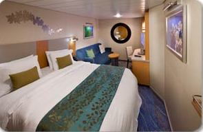 INTERIOR CABIN - Two twin beds that convert to Royal King, private bathroom and sitting area. Stateroom: 140 sq. ft.; Accessible: 258 sq. ft.
