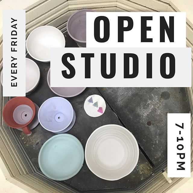 Open Studio tonight! Come by from 7-10pm & make some art