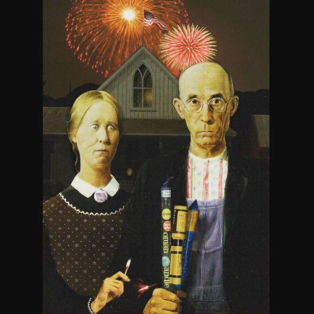 Happy 4th of July!! 🇺🇸 🎇 💥 🧨  #happy4th #americanggothic