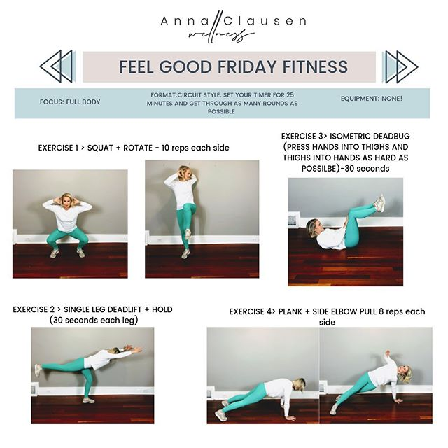 ✨Feel Good Friday Workout✨ . Short. Sweet. Sweaty. Travel Friendly. . Happy Friday friends. May you have peace and comfort this weekend 💕