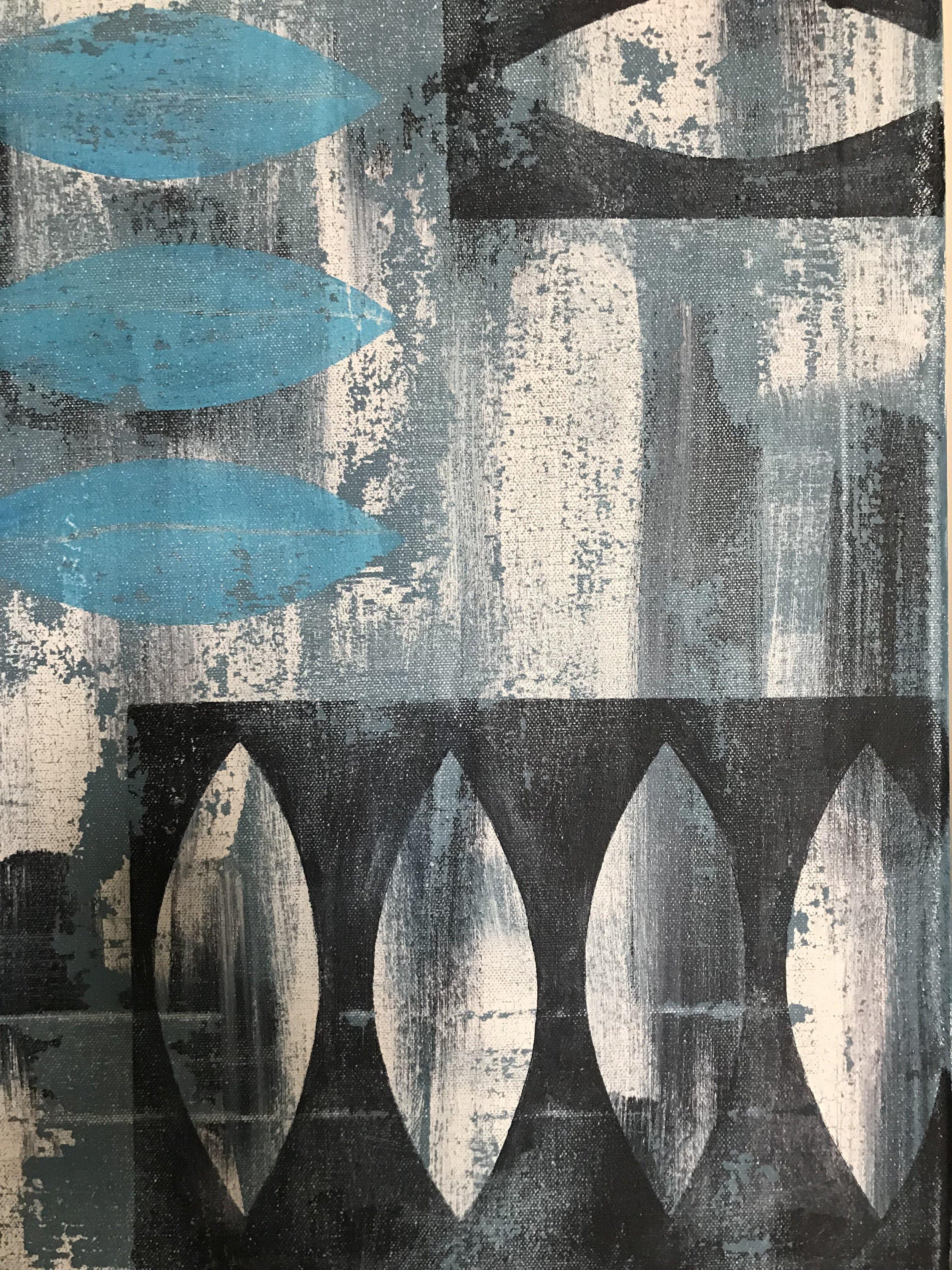 Acrylic on canvas - Cardiff apartments