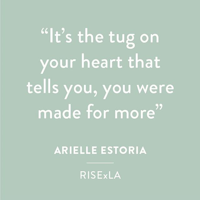 """""""It's the tug on your heart that tells you, you were MADE FOR MORE"""" — @arielleestoria 💛🙌 #MadeforMore #RiseWknd #RISExLA #madeformoremovie"""