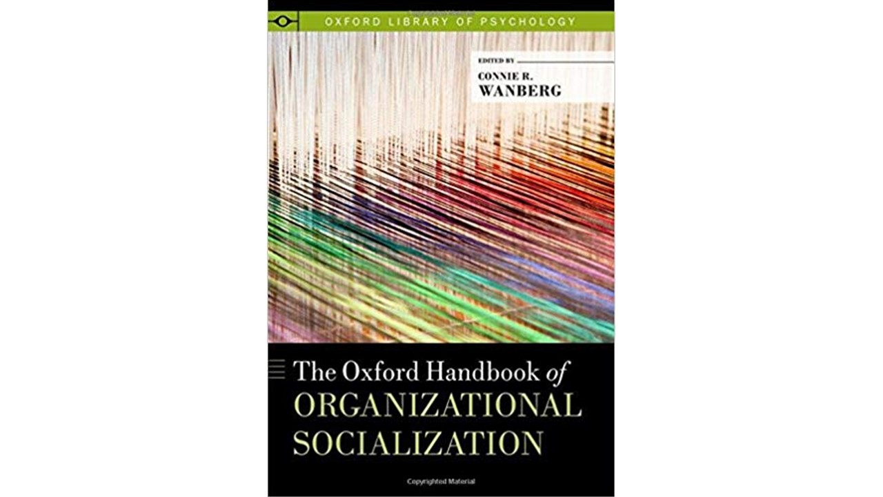 In The Oxford Handbook of Organizational Socialization, Jamie outlines the development of Socialization Resources Theory, an innovative, new approach to on-boarding employees successfully. -